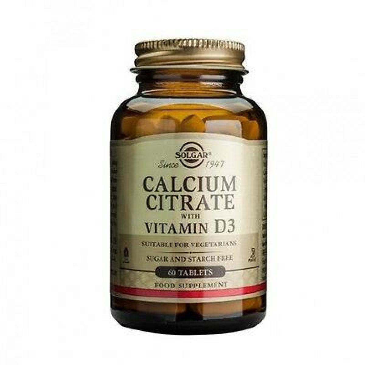Solgar Calcium Citrat Plus Vitamin D *60 Tab