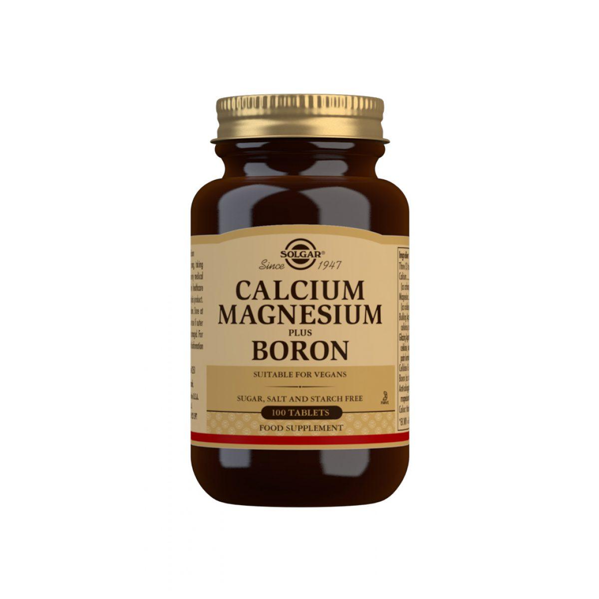 Solgar Calcium  Magnesium Plus Bor *100 Tab