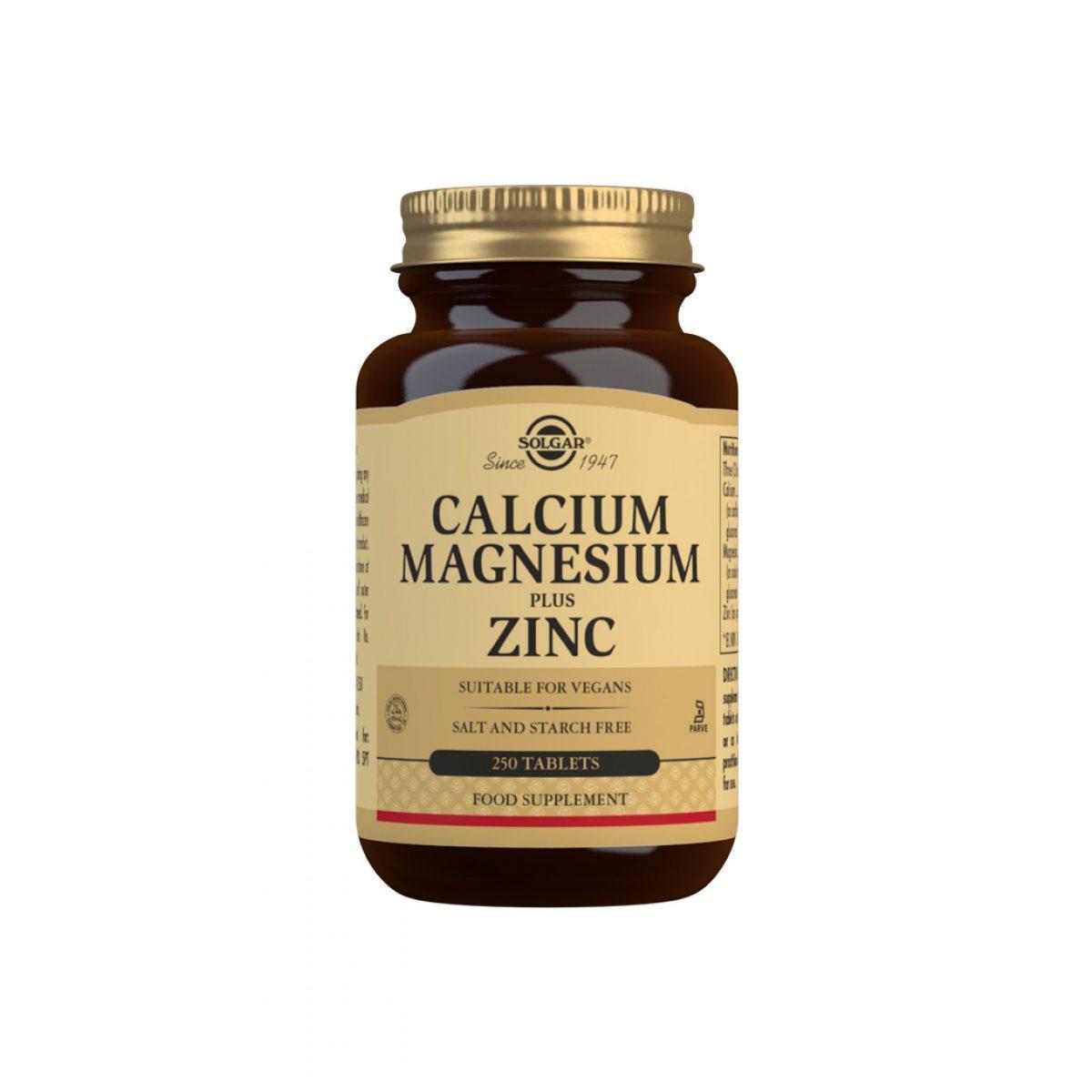Solgar Calcium  Magnesium Plus Zinc *100 Tab