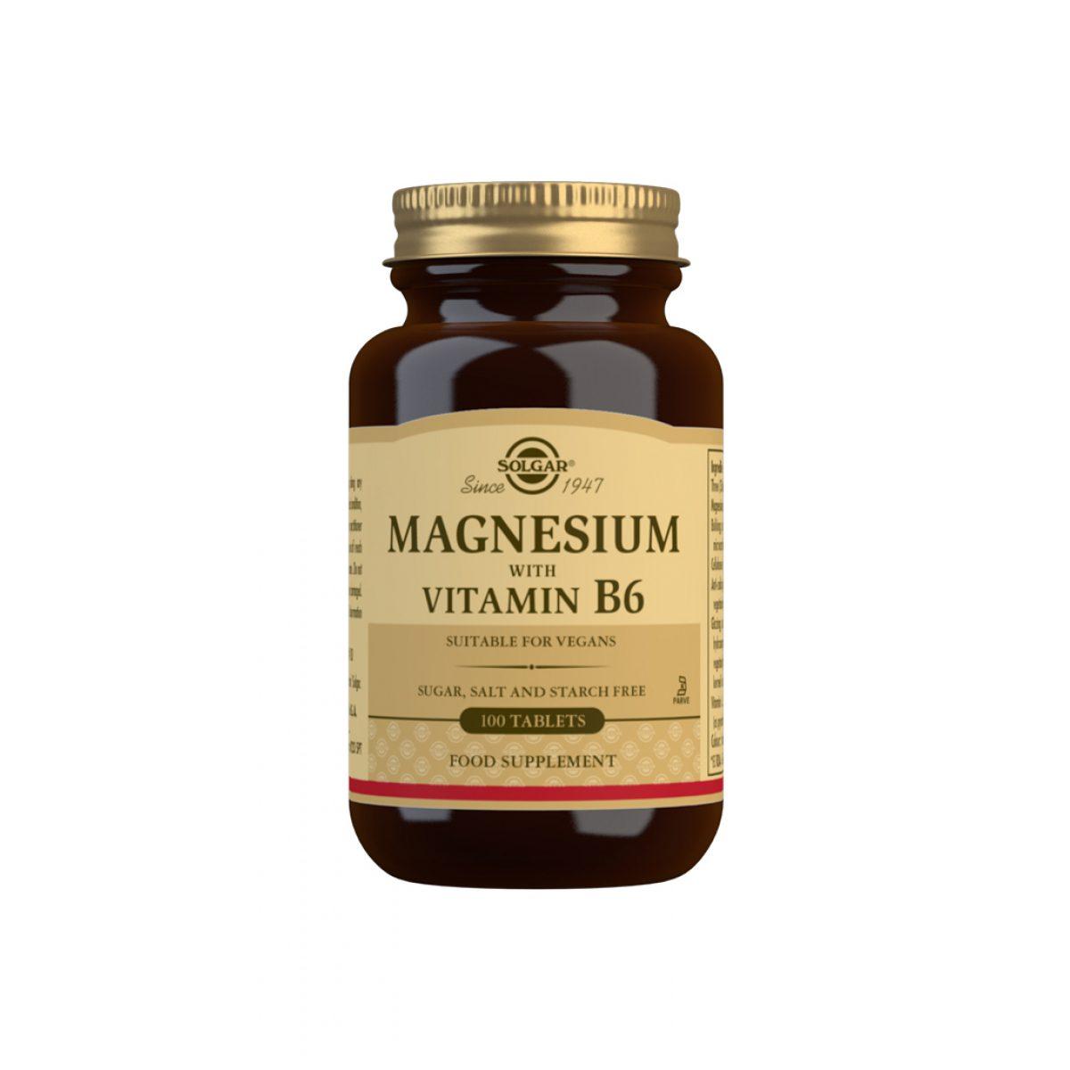 Solgar Magnesium + Vitamin B6*100 Tab